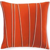 Diagonal Poly Square Pillow in Orange