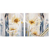White Florals I / II Wall Art (Set of 2)