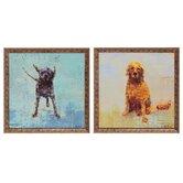 Shake / Golden Dog 2 Piece Framed Painting Print Set (Set of 2)