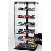 Glass and Aluminum Display Case with Swivel