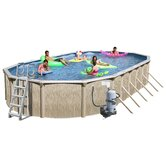 Galveston Oval Above Ground Pool with Cartridge Filter