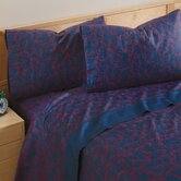 Monsters 300 Thread Count Sheet Set in Navy and Red