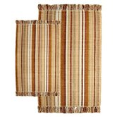 Silked Ribbed Piece Accent Bamboo Multi Rug Set