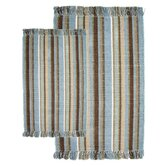 Silked Ribbed Piece Accent Spa Multi Rug Set