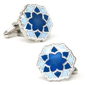 Bloom Cufflinks in Blue