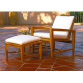 Amalfi Lounge Chair and Ottoman with Cushions