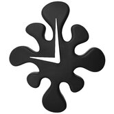 Mini Splat Clock in Black