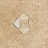 "Brixton 9"" x 12"" Decorative Wall Accent Tile with Insert in Mushroom"