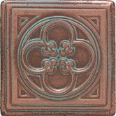 "Castle Metals 2"" x 2"" Clover Dot Decorative Accent Tile in Aged Copper"