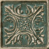 "Metal Signatures Floral Dot 2"" x 2"" Decorative Tile in Aged Bronze"