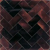 "Ocean Jewels 2"" x 2"" Herringbone Accent Tile in Young Pin"