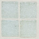 "Sonterra Collection 12"" x 12"" Opalized Mosaic Tile in Ice White"