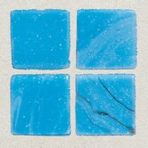 "Sonterra Collection 12"" x 12"" Opalized Mosaic Tile in Cancun Blue"