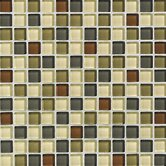 "Glass Reflections 12"" x 12"" Glossy Mosaic Tile Blend in Urban Camouflage"