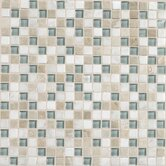 "Stone Radiance 12"" x 12"" Mosaic Tile Blend in Whisper Green"