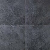 Continental Slate 18&quot; x 18&quot; Field Tile in Asian Black