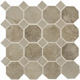 "Aspen Lodge 12"" x 12"" Mosaic Field Tile in Shadow Pine"