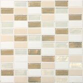 "Coastal Keystones 1"" x 2"" Straight-Joint Mosaic Tile in Coconut Beach"