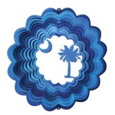 Blue Palmetto Moon Wind Spinner
