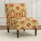 Ikat Fabric Slipper Chair