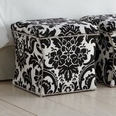 Fiorenza Fabric Storage Cube Ottoman