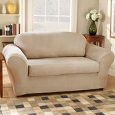 Stretch Suede Separate Seat Sofa Slipcover