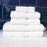 Seven Piece Terry Towel Set in Pure White