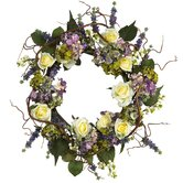 24&quot; Hydrangea Rose Wreath