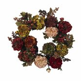 22&quot;  Autumn Hydrangea Peony Wreath
