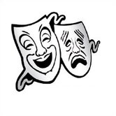 Comedy / Tragedy Masks Mirror Acrylic Wall Decor