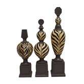Three Piece Kilimanjaro Finial Set