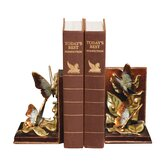 Butterflies Foraging Bookend (Set of 2)