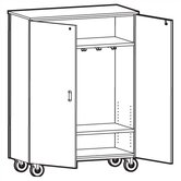 1000 Series Coat Storage Mobile Cabinet
