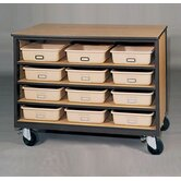 2000 Series Tote Tray Mobile Cabinet
