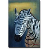 'Lonely Zebra' Canvas Art