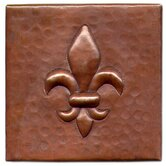 Fleur De Lis 4&quot; x 4&quot; Copper Tile