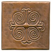 Spanish Cross 4&quot; x 4&quot; Copper Tile