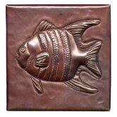 Angel Fish 4&quot; x 4&quot; Copper Tile