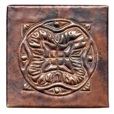 Spanish Mosaic 4&quot; x 4&quot; Copper Tile