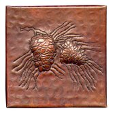 Pine Cone Small 4&quot; x 4&quot; Copper Tile