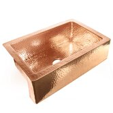 "36"" x 22"" x 10"" Single Bowl Copper Farmhouse Kitchen Sink"