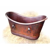 Isabella Large Copper Bath Tub with Rings