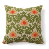 Provence Tuscan Verdure Embroidered Pillow in Green