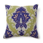 Full Bloom Amalfi Embroidered Pillow in Blue and Green