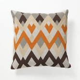 Global Bazaar Diamond Echo Pillow in Orange