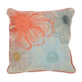 Seafarer Linen Blossom Accent Pillow