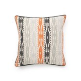 African Mod Tunisia Print Stripe Pillow