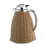 Albergo 1-Liter Beige Saleen Wicker Carafe with Tea Filter