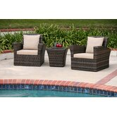 Maui 3 Piece Deep Seating Group with Cushions