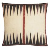 Backgammon Gameboard Decorative Pillow